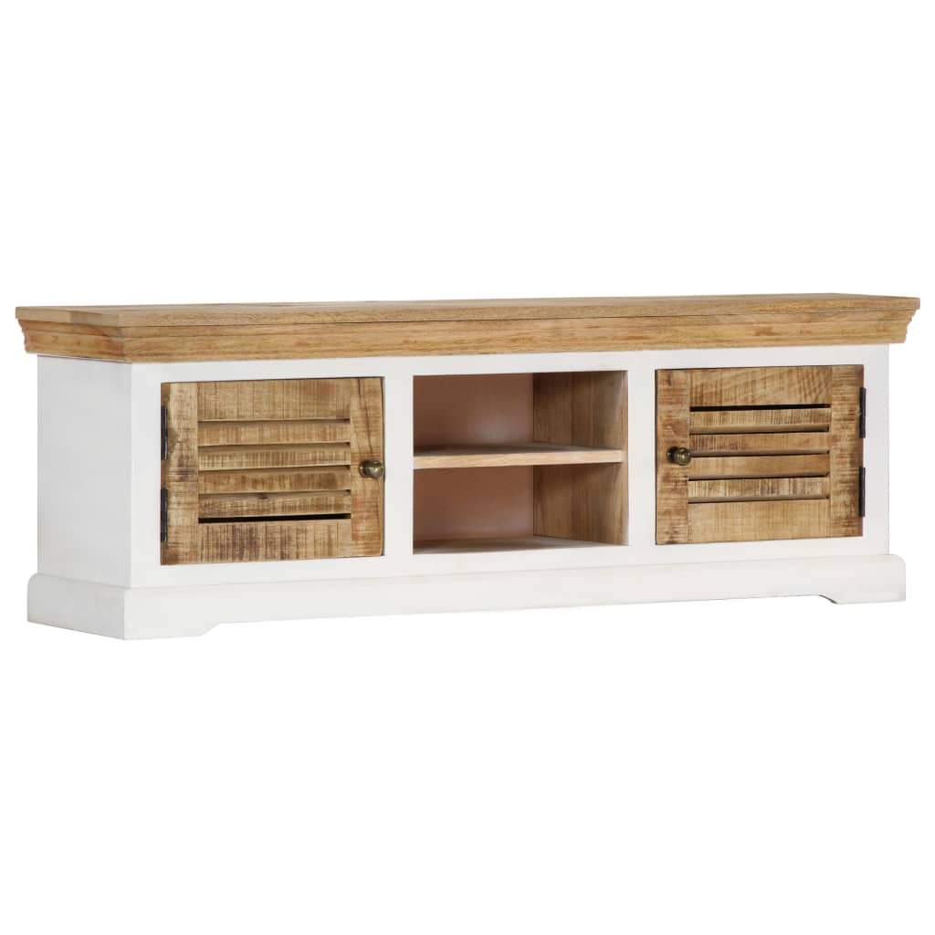 TV Cabinet 118x30x40 cm Solid Mango Wood Kings Warehouse Default Title