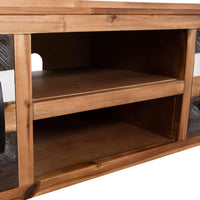 TV Cabinet Solid Acacia Wood 120x35x40 cm Kings Warehouse