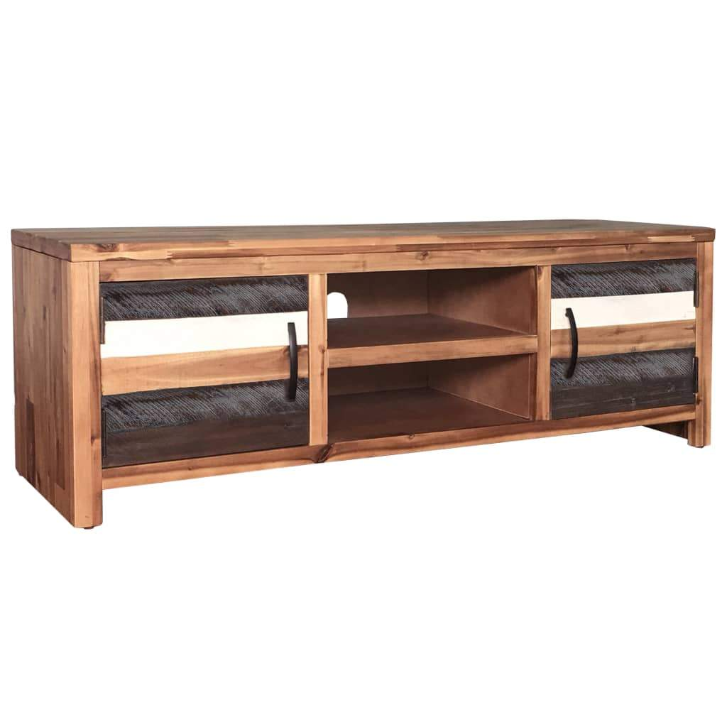 TV Cabinet Solid Acacia Wood 120x35x40 cm Kings Warehouse Default Title