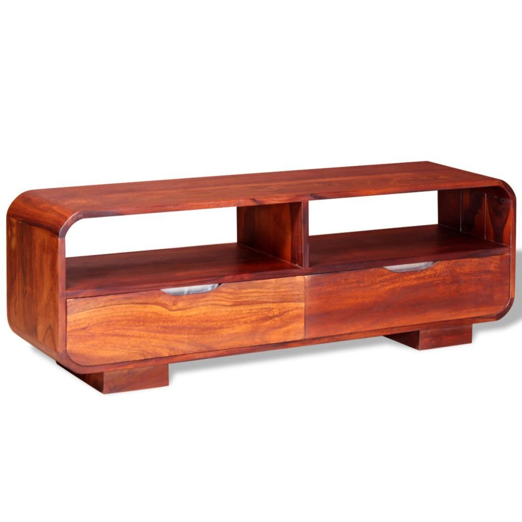 TV Cabinet Solid Sheesham Wood 116x30x40 cm Kings Warehouse Default Title
