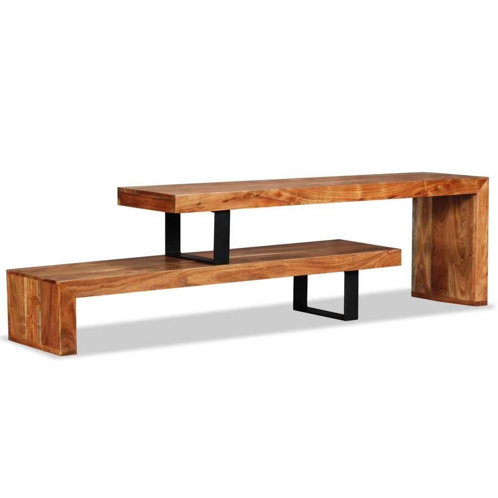 TV Stand Solid Acacia Wood Kings Warehouse Default Title