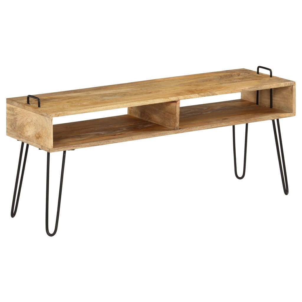 TV Stand Solid Mango Wood 110x35x45 cm Kings Warehouse Default Title