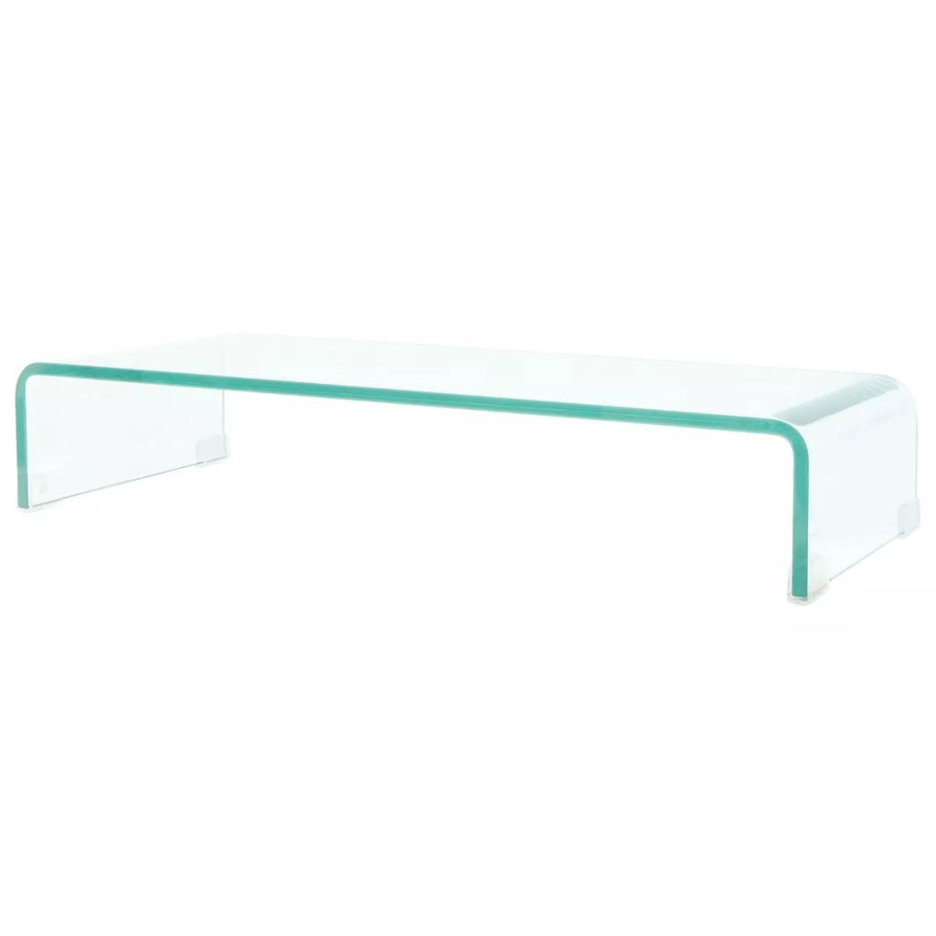 TV Stand/Monitor Riser Glass Clear 70x30x13 cm Kings Warehouse Default Title