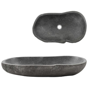 Wash Basin River Stone Oval 60-70 cm Kings Warehouse