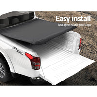 Weisshorn Fit Mitsubishi MQ Triton Dual Cab Tonneau Cover Clip UTE Pick Up Truck Kings Warehouse
