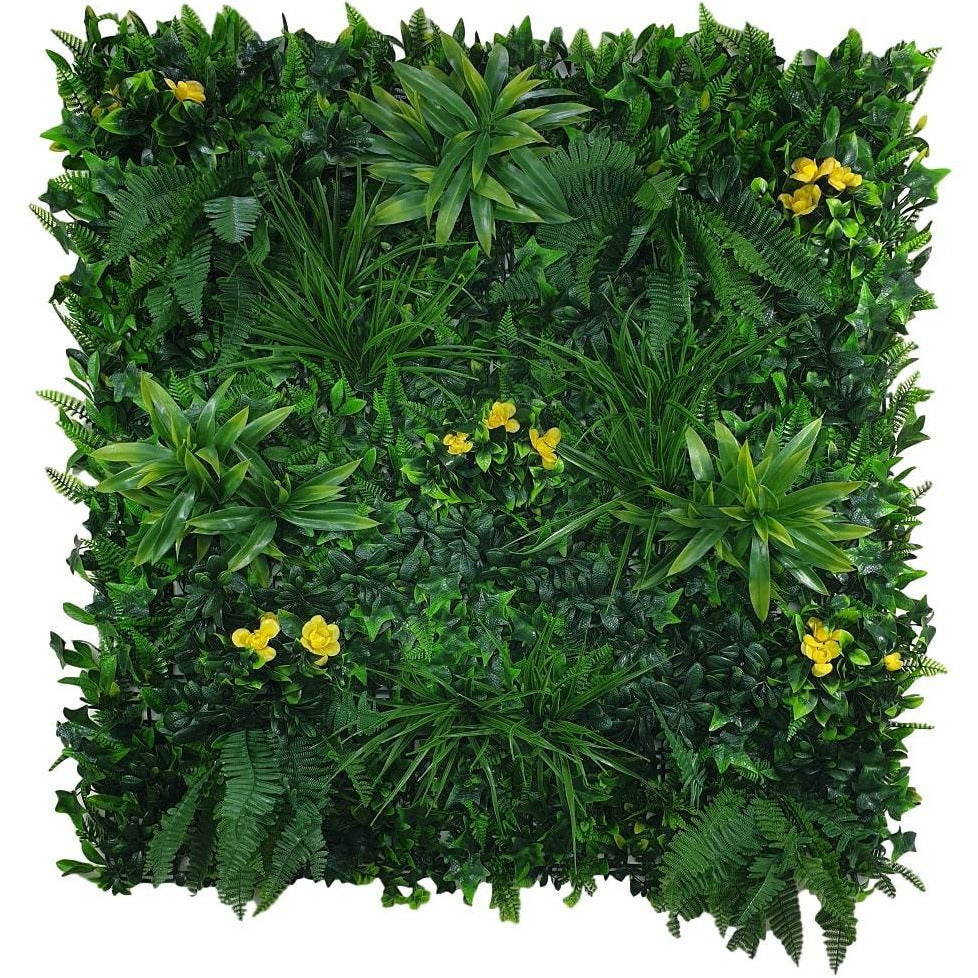 Yellow Rose Vertical Garden / Green Wall UV Resistant Sample Kings Warehouse