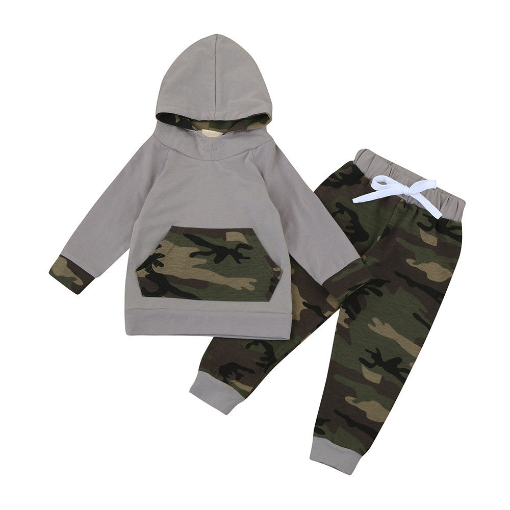 Camouflage Pants and Hoodie