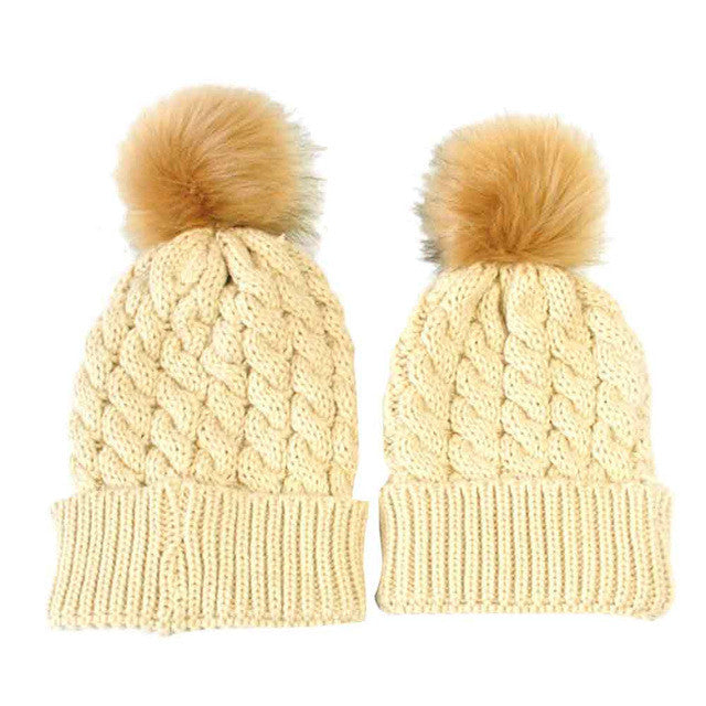 FREE FOR LIMITED TIME Mom and Baby Beanie 2 Pcs