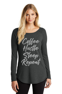 Coffee, Hustle, Sleep, Repeat - Ladies Tee
