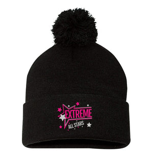 Extreme Cheer - Embroidered Pom Pom Beanie