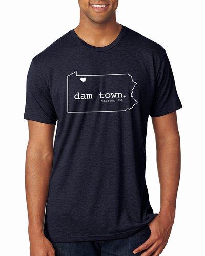 Dam Town - State Outline - Warren, PA