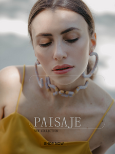 new collection paisaje, handmade beaded earrings and choker