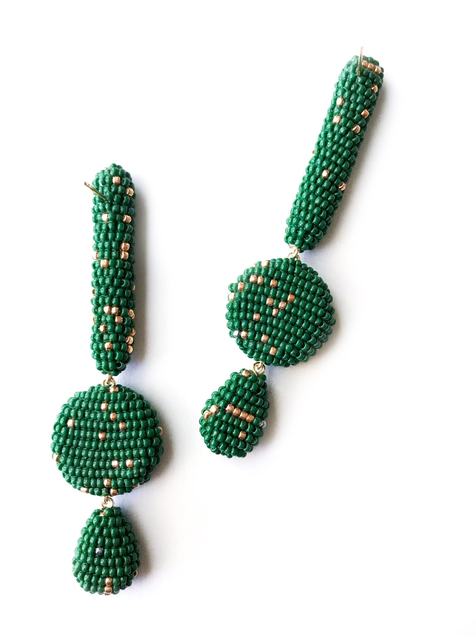 DILEGANTO EARRINGS GREEN