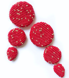 ETRA EARRINGS RED
