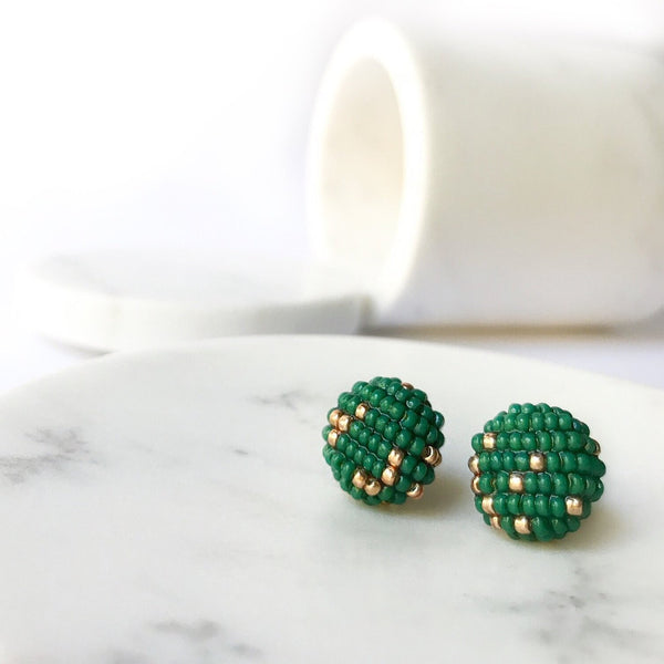 MORE EARRINGS Emerald Green