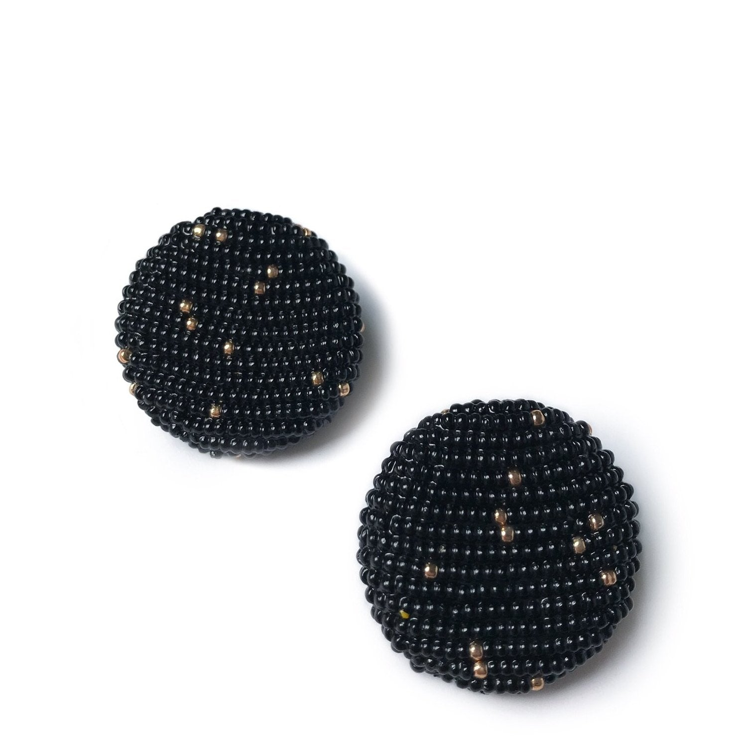 POLKAMOR EARRINGS Black
