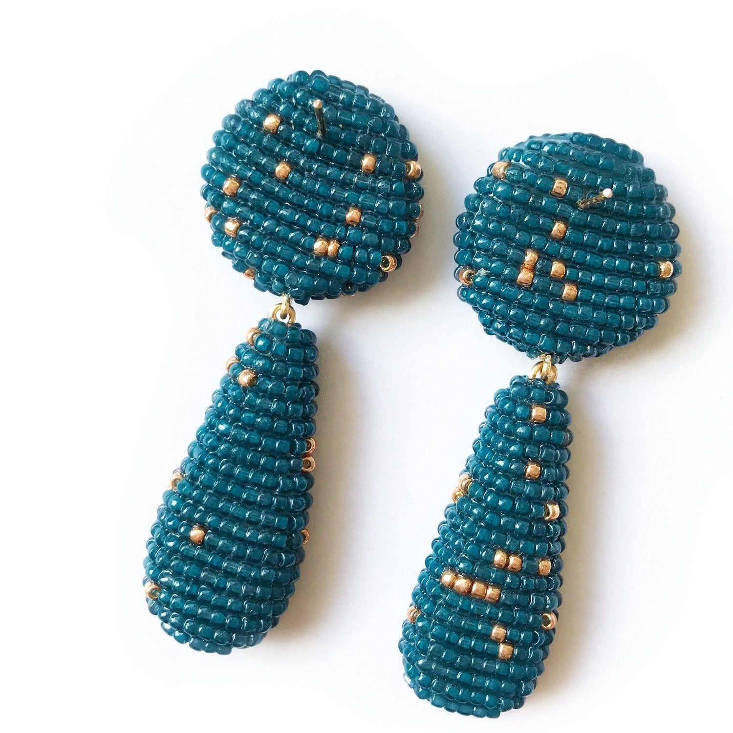 YARA EARRINGS BLUE