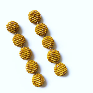 CIMU EARRINGS MUSTARD