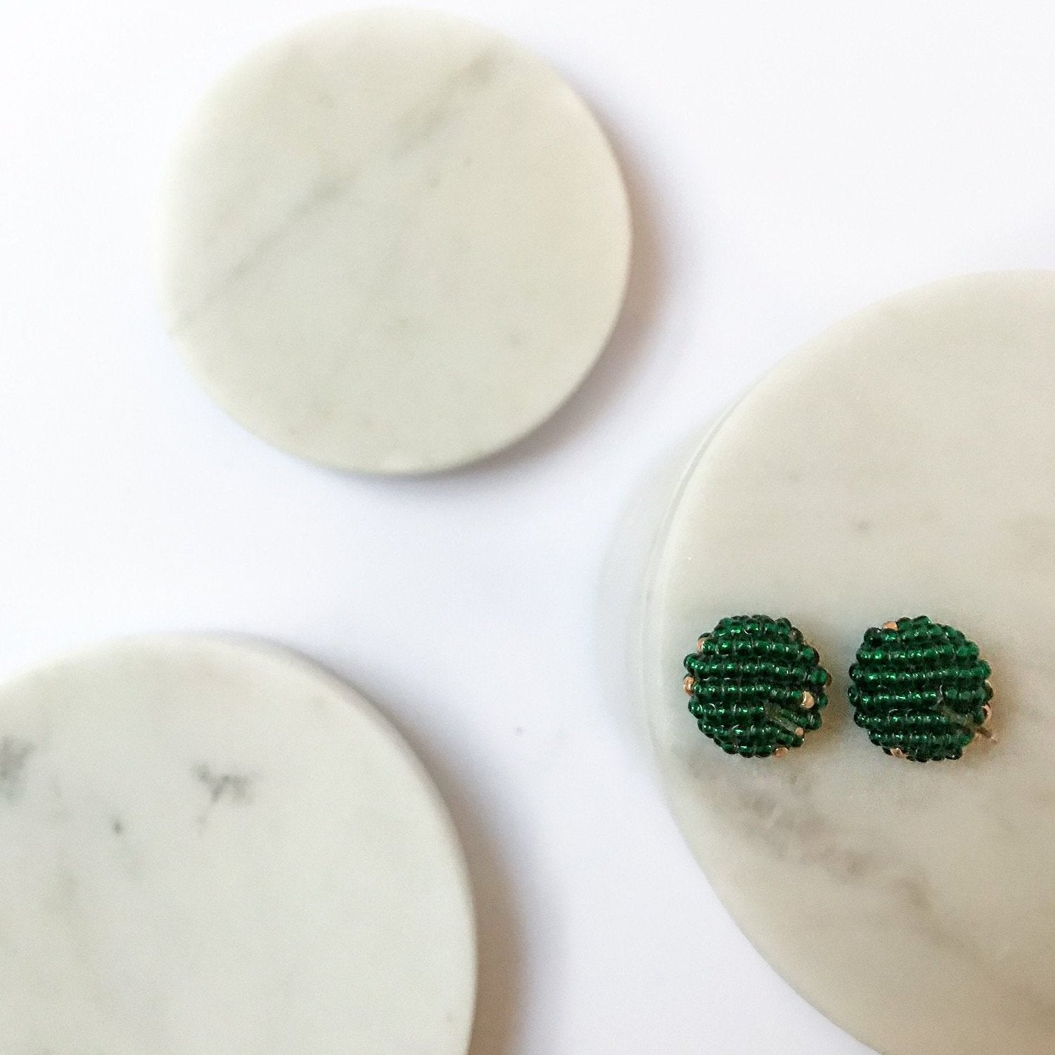 MORE EARRINGS Bright Emerald Green