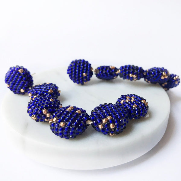 YOHO EARRINGS ROYAL BLUE