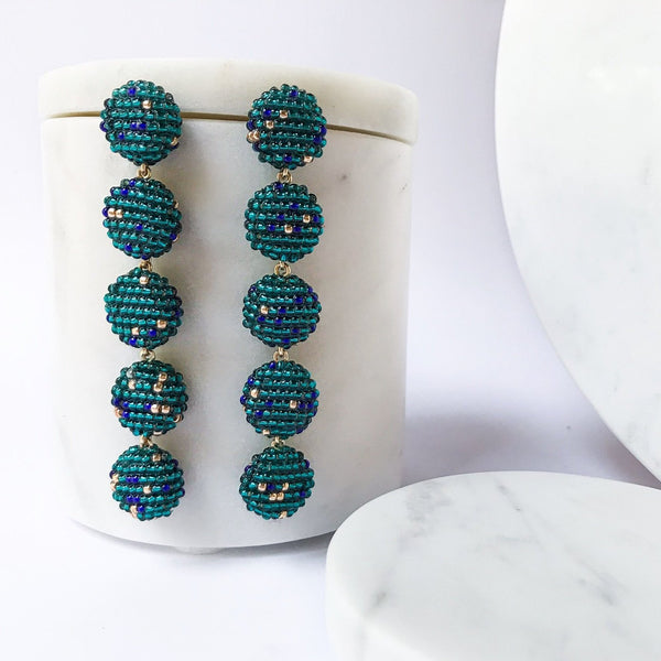 CIMU EARRINGS TEAL