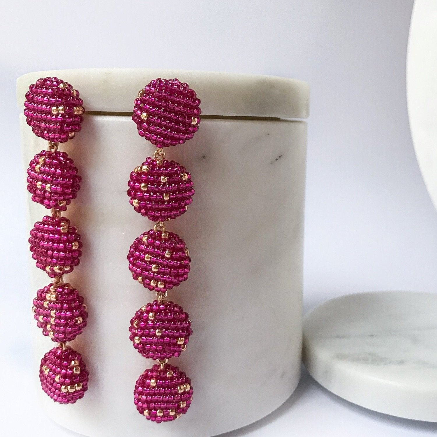 CIMU EARRINGS FUCHSIA