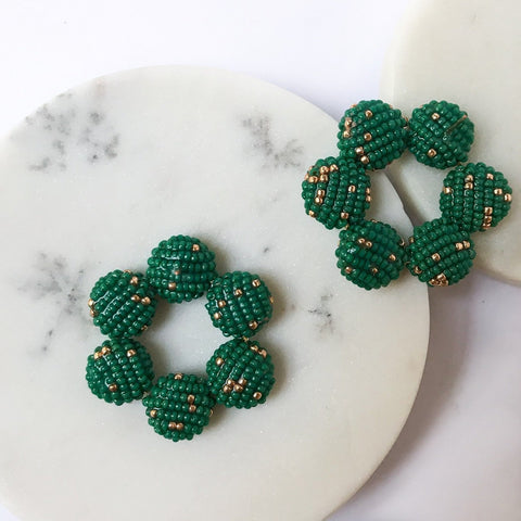 AMET EARRINGS EMERALD GREEN