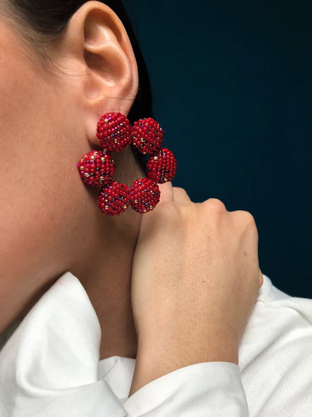 AMET EARRINGS RED