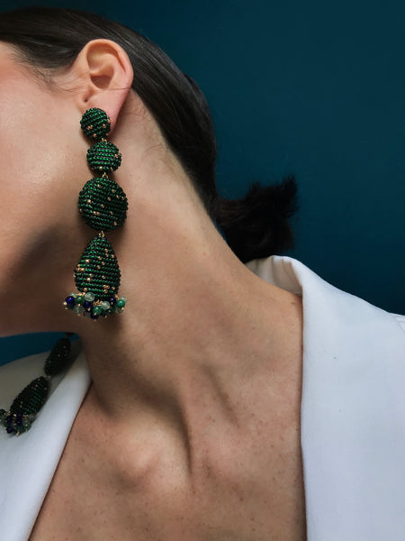 ERADO EARRINGS EMERALD GREEN