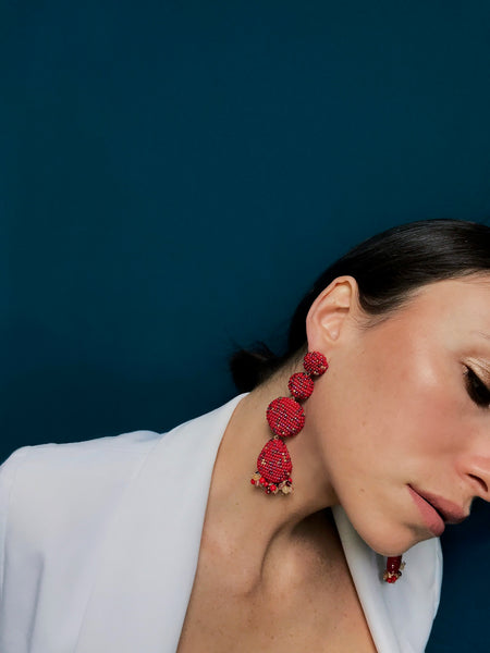 ERADO EARRINGS RED