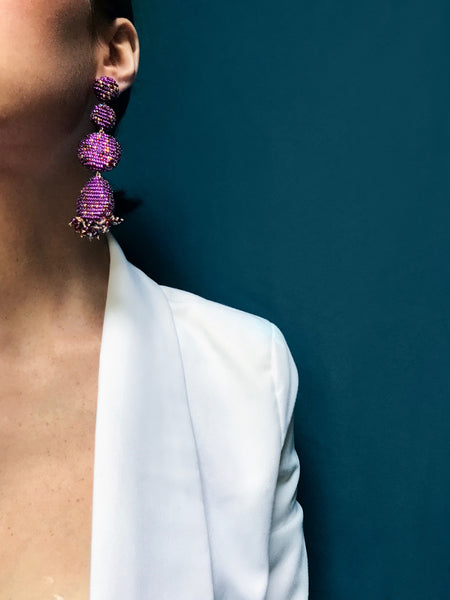 ERADO EARRINGS ULTRAVIOLET