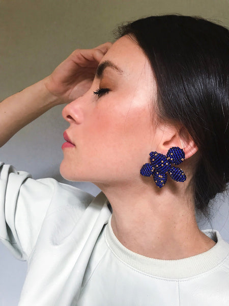 YOAQ EARRINGS ROYAL BLUE
