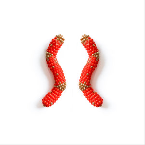HANDMADE BEADED EARRINGS , Carolina herrera, oscar de la renta,