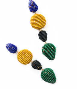ALEMOR EARRINGS Blue/Mostaza/Black/Green