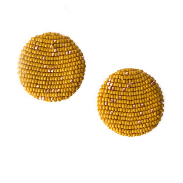 POLKAMOR EARRINGS Mustard