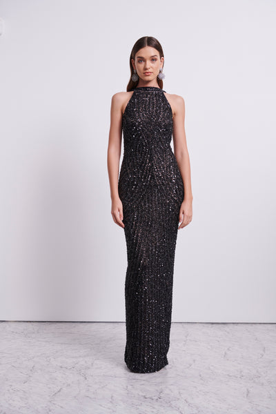 LUCIA GOWN - BLACK