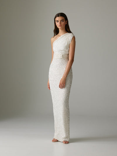 REED GOWN - IVORY