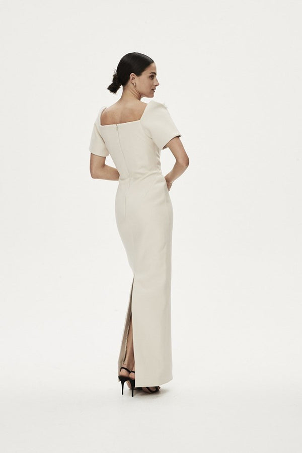 SANDRO GOWN - ALMOND