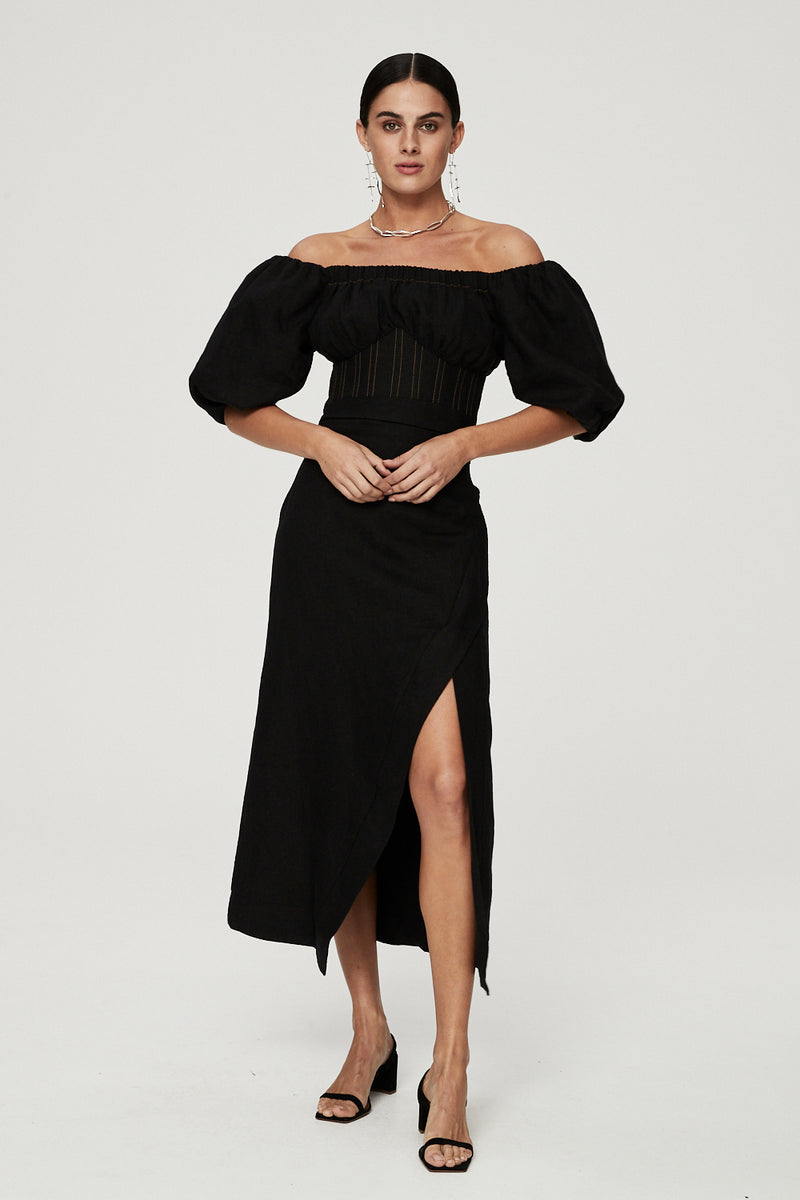 CAPRI DRESS - BLACK-DRESS-Rachel Gilbert