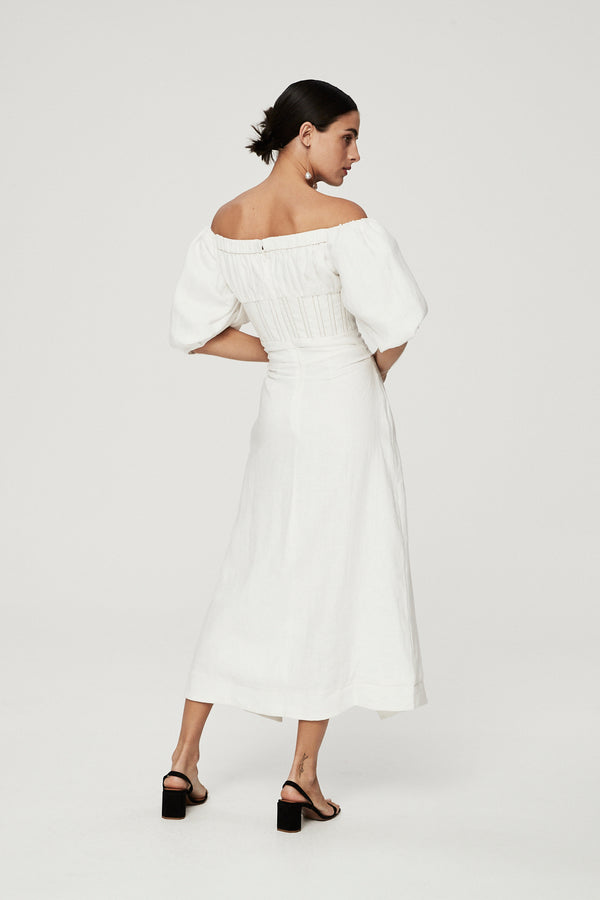CAPRI DRESS - IVORY-DRESS-Rachel Gilbert