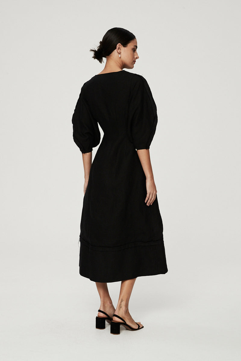 CAPRI MAXI DRESS - BLACK-DRESS-Rachel Gilbert