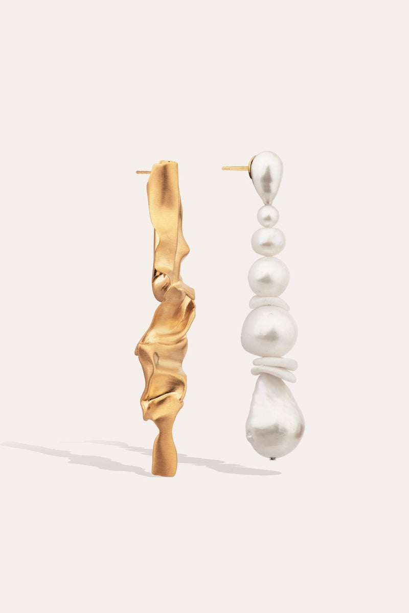 CRUMPLE EARRINGS-ACCESSORIES-Rachel Gilbert