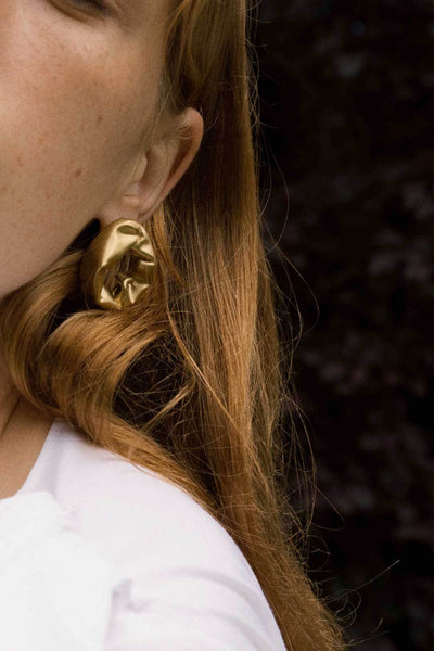 SCUNCH EARRINGS-JEWELLERY-Rachel Gilbert