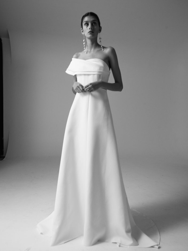 DREW BRIDAL GOWN - IVORY-GOWN-Rachel Gilbert