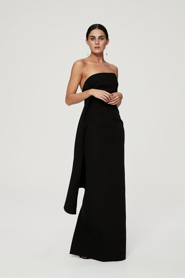 ELLINGTON GOWN - BLACK-GOWN-Rachel Gilbert