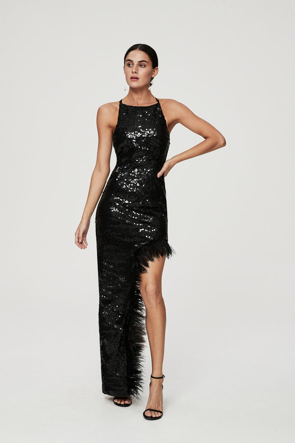 ELLIS GOWN - BLACK-GOWN-Rachel Gilbert