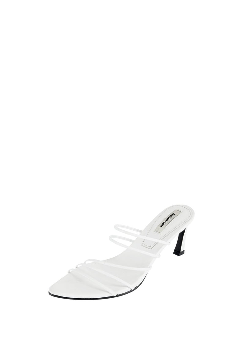5 STRINGS POINTED SANDALS WHITE