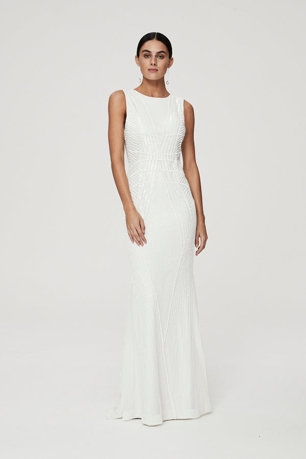 LONDON GOWN - IVORY-GOWN-Rachel Gilbert