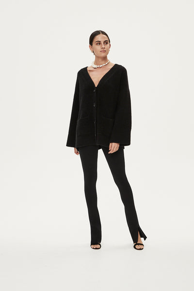 LOUIS CARDIGAN - BLACK
