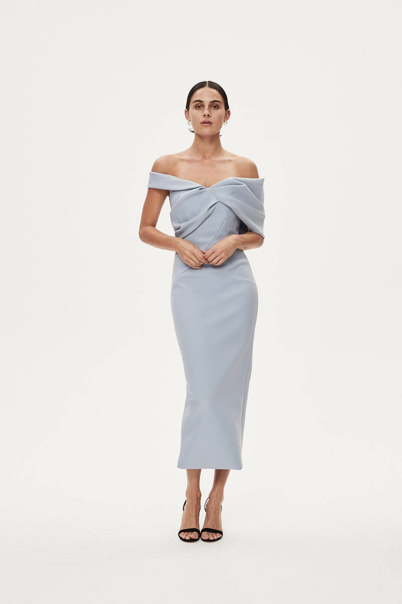 MATTEO DRESS - DUCK EGG BLUE